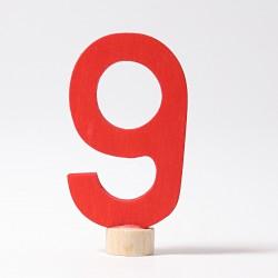 Steker getal cijfer 9 strak