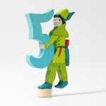 Grimm's Steker sprookjes getal cijfer 5 Robin Hood