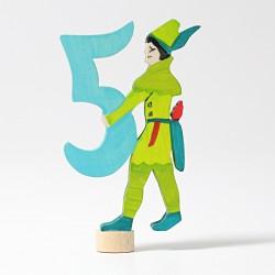 Steker sprookjes getal cijfer 5 Robin Hood