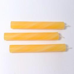 Kaars 25% bijenwas amber gemarmerd