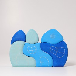 Huis blauw
