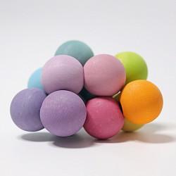 Grijpkralen regenboog pastel