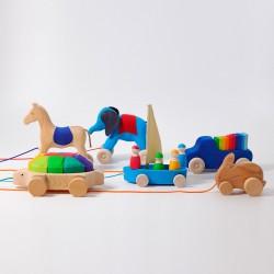 Trekfiguren en muziek speelgoed