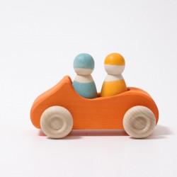 Auto Cabrio oranje groot