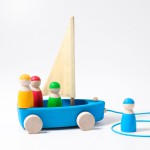 Zeilboot Strandzeiler groot met touw