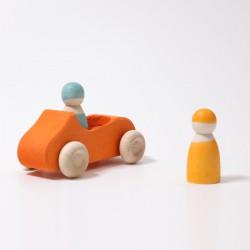 Cabrio oranje groot