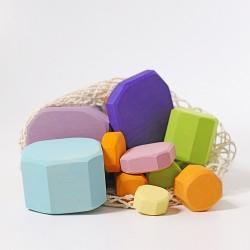 Blokken en schijven pastel