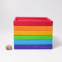 Frames set in regenboog kleuren