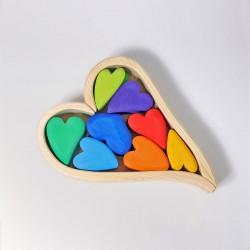 Blokken harten regenboog | Valentijn | Moederdag