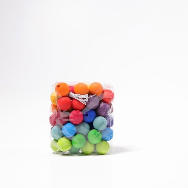 Grimm's 60 Kralen regenboog kleuren, 20 mm