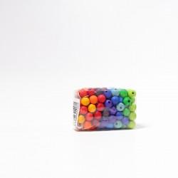 120 Kralen in regenboog kleuren, 12 mm