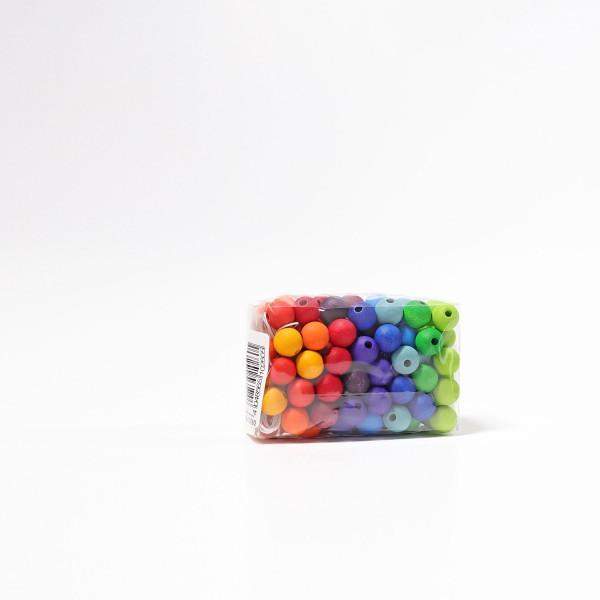 Grimm's 120 Kralen in regenboog kleuren, 12 mm