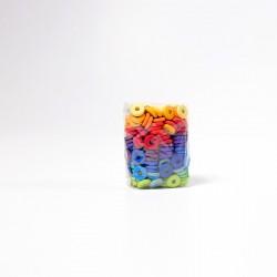 Schijven regenboog kleuren 240 stuks