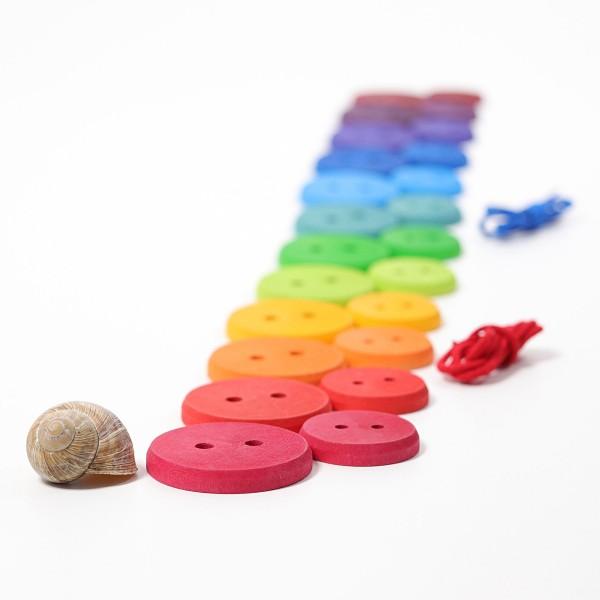 Grimm's Rijgspel grote schijven regenboog kleuren