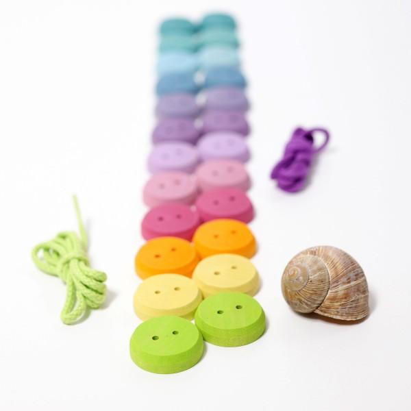 Grimm's rijg spel kleine schijven pastel kleuren