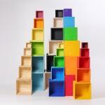 Grimm's Kubus regenboog kistjes