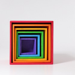 Kubus regenboog kistjes