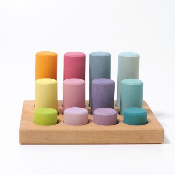 Grimm's Stapel en sorteerspel: Rollers pastel in sorteerbord