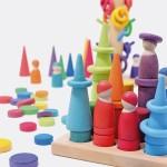 Grimm's Stapel en sorteerspel: Rollers regenboog in sorteerbord
