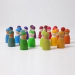 Grimm's Regenboog vrienden 12 stuks van Kersenhout