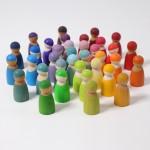 Grimm's Pastel Regenboog vrienden 12 stuks