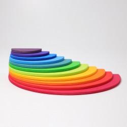 Halve cirkels groot regenboog