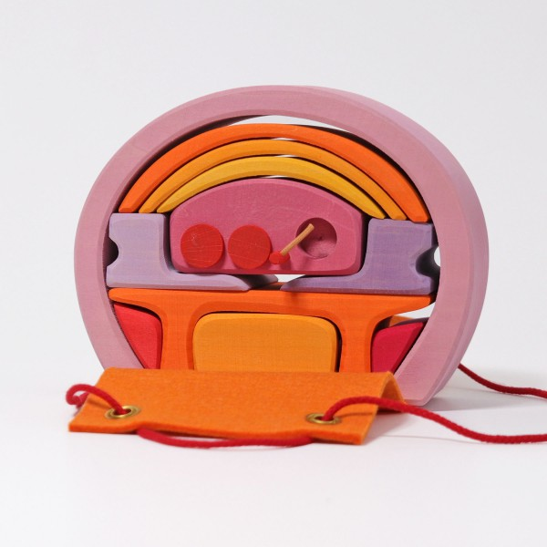 Grimm's Poppenhuis roze-oranje