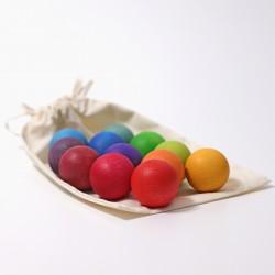 Kleine houten ballen Regenboog