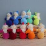 Grimm's Dwergen met baard in regenboog kleuren