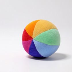 Zachte regenboog bal met belletje