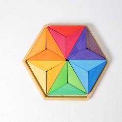 Ster puzzel complementaire kleuren