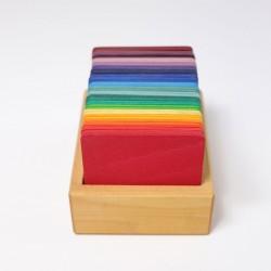 Bouwplaten en spel plankjes vierkant