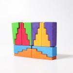 Grimm's Blokken set trappen en daken regenboog