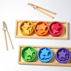 Tel en sorteerspel regenboog schalen