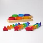 Grimm's Tel en sorteerspel regenboog schalen