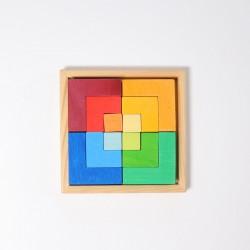 Puzzel klein vierkant met spelideeën