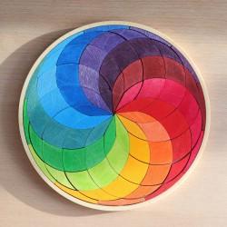 Puzzel mini regenboog cirkel spiraal