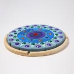 Grimm's Mandala glinsterend blauw