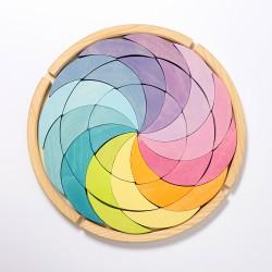 Puzzel kleurenwiel Pastel