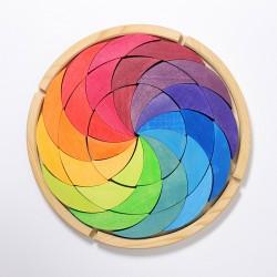 Puzzel kleurenwiel Regenboog