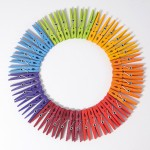 Grimms Wasknijpers 42 gekleurd