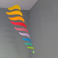 Mobiel regenboog vleugels