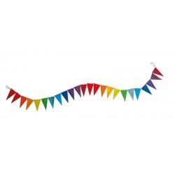 Vlaggenlijn in regenboog kleuren