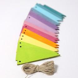 Vlaggenlijn in pastel kleuren