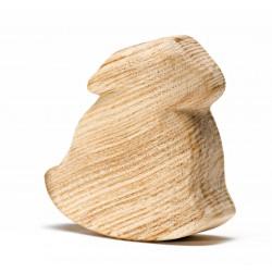 Blank houten schommel haasje