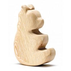 Blank houten schommel beer
