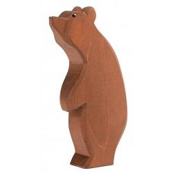Grote beer staand kop hoog