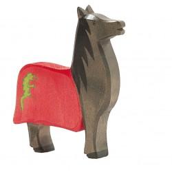 Paard zwart v. zwarte ridder