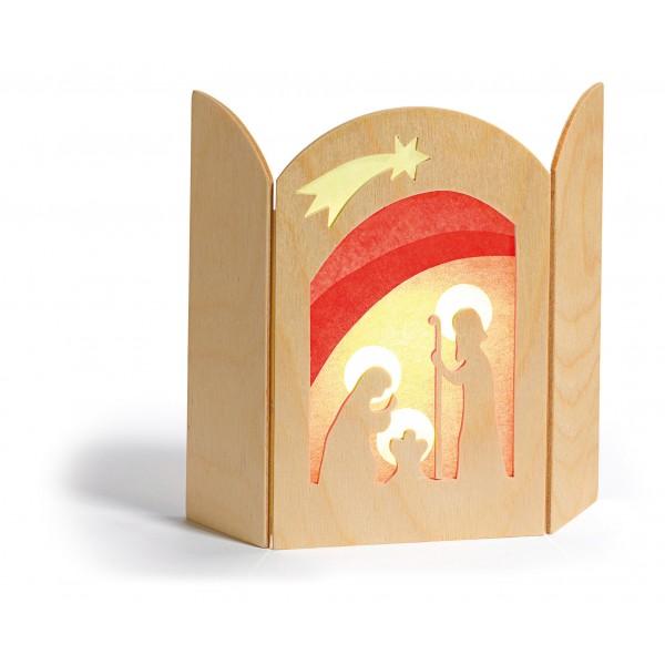 Transparant Kerstmis Geboorte van Kindje Jezus