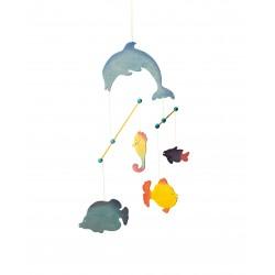 Mobiel Dolfijn Zeepaard en Vissen